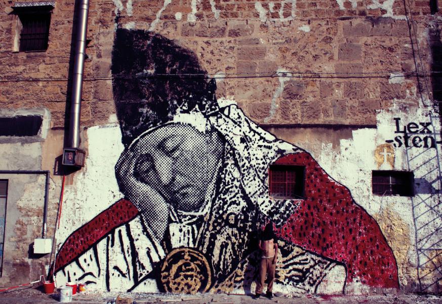 sten, lex, fachadas, stencil, arte, emergente, contemporáneo, duende, libro