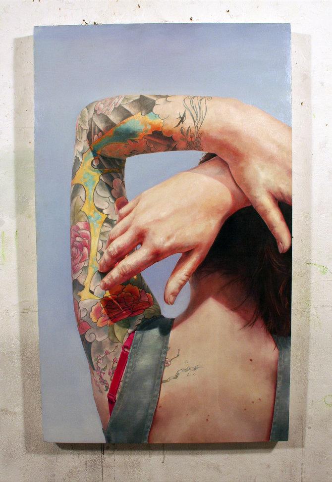 steven, chapman, óleo, tatuajes, pintura, inspiración, arte, cultura