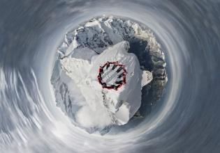 Alpinistas en Los Alpes. Robert Bösch