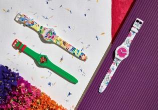 swatch, flores, colección, primavera, floralia, verano, reloj
