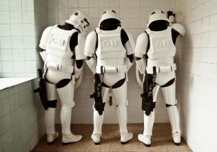 star, wars, arte, ilustración, fotografía, Stormtroopers, soldados, imperiales.