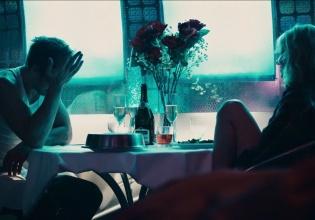 cine, romántico, san, valentín, cine, ciclo, encendida, casa, contemporáneo