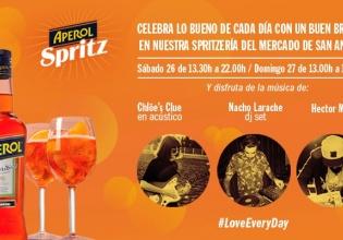 anton, aperol, bebida, conciertos, Madrid, mercado, navidad, san, spritz
