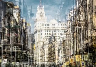 laurent, dequick, fotografía, madrid, ciudad, imágenes, superpuestas, cultura