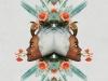 douglas, hale, artista, collage, vintage, artista, duende, cultura, diseño