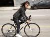 Bicicleta, ciclistas, colección, commuter, levi's, moda